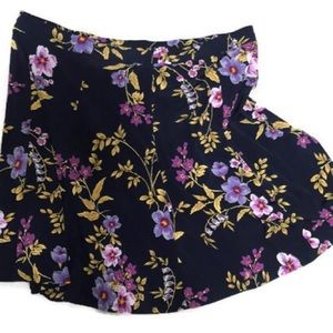Susan Graver Skirt Flower Power Flirty swingy X/L